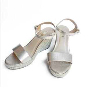 Gold Platform Wedge Sandals | Women's Gold Sandals